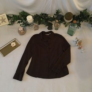 Croft and Barrow brown blouse